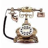 Antikes Festnetztelefon - Druckknopf und Drehtelefon - Retro Telefon mit Schnur - Retro dekoratives Telefon - Festnetz- und Bürotelefon, eine Vielzahl von Stilen zur Auswahl (Stil : B)