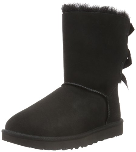 UGG Female Bailey Bow II Classic Boot, Black, 3 (UK)