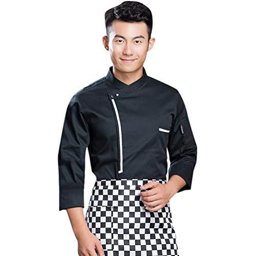Dooxii Unisex Herren und Damen Herbst Winter Langarm Kochjacke Professionel Kuchen Backen Uniform Berufsbekleidung
