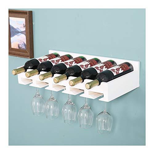 ABCSS Adornos para estantes de Vino Estante de exhibición de Madera Maciza Estante para vinos Porta Botellas de Vino colocado en Diagonal,Estante para vinos de 4/5/6 Botellas