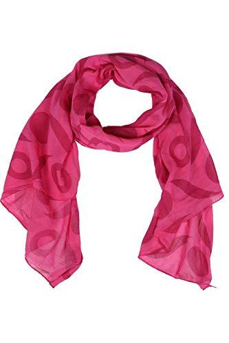 Zwillingsherz Seiden-Tuch Damen mit schlichtem Muster - Made in Italy - Eleganter Sommer-schal für Frauen - Hochwertiges Seidentuch/Seidenschal - Halstuch und Chiffon-Stola Dezent Stilvoll pink