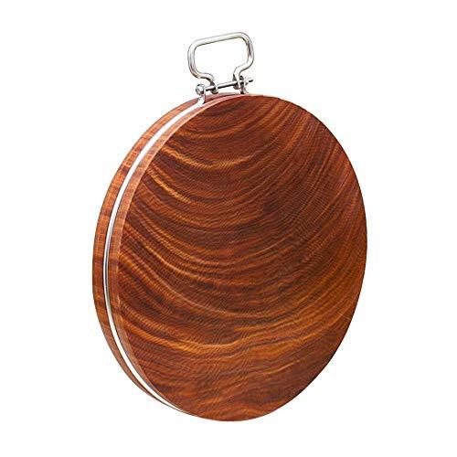 GG-cutting board Tabla de Cortar de bambú de Borde Contrario | Asegurar Tabla de Cortar de Madera de Cocina | 100% Natural, bambú Duradero Forma: Redonda