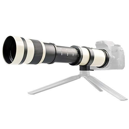 Super-Teleobjektiv, 420-800 mm 1: 8,3-16 Teleobjektiv mit manuellem Fokus für Canon EF-Mount-Kamera, mit T2-Mount-Adapter für Teleskop