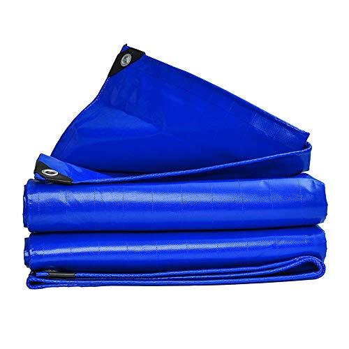 ZXL regendicht multifunctioneel zonwerend zeildoek (blauw) | Waterdicht Heavy Duty, geschikt voor tenten | Camping | Hangmatten | Zwembad | Tuin | (Maat: 3x4m) 2x3m