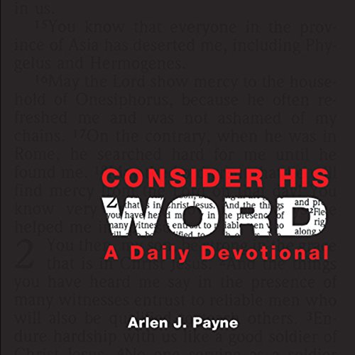 Consider His Word  audiobook cover art