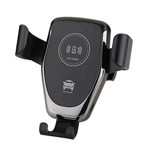 Qi - Soporte de teléfono inalámbrico para coche (10 W/7,5 W), cargador inalámbrico de coche para inducción de coche, soporte de carga rápida para iPhone X/8/8+, Galaxy S8/S8+/S7