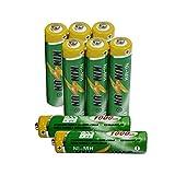 KINSUN 8-Paquete baterías Recargables NiMH Pilas AAA 1,2V 1000mAh para luz Solar de jardín también Compatible con batería de teléfono inalámbrico Panasonic 550mAh HHR-55AAABU y 750mAh HHR-75AAA/B