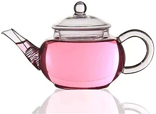Bouilloire induction Théière simple Borosilicate Verre Tea Pot de thé à l'eau bouillie Thé de thé clair Théière en verre 250 ml pour bureau de cuisine à domicile extérieur WHLONG (Color : 250ml)