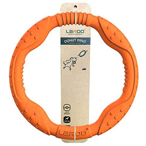 LaRoo Hundefitness-Ring Hundefrisbee, unzerstörbare Float Hunde Flugscheibe Spielzeug, Sommer Pet Training für Mittelgroße und kleine Hunde(Orange-30CM/11.81in)
