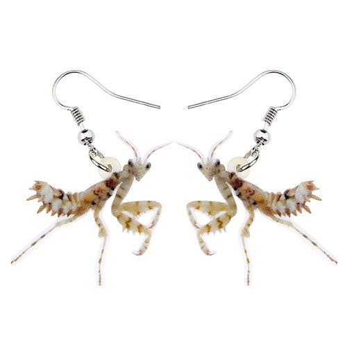 Dames Oorbellen Acryl Mantis Devil Horse Insect Oorbellen Drop Dangle Fashion Jewelry