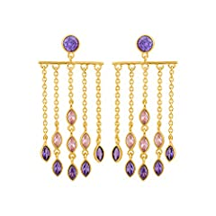 Metal: - Brass Gross Weight :- 10.11 gms Dimension :-Earring Width : 1.1 inches|Earring Length : 2.25 inches Sales Package :- 1 Pair of Earring It is advisable to store jewellery in a zip lock pouch (air tight pouch), keep away from water perfume and...