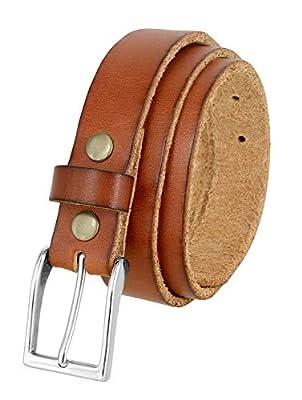 """Women's Belts One Piece Full Grain Genuine Leather Casual Dress Belt 1-1/8"""" wide (Tan, 40)"""