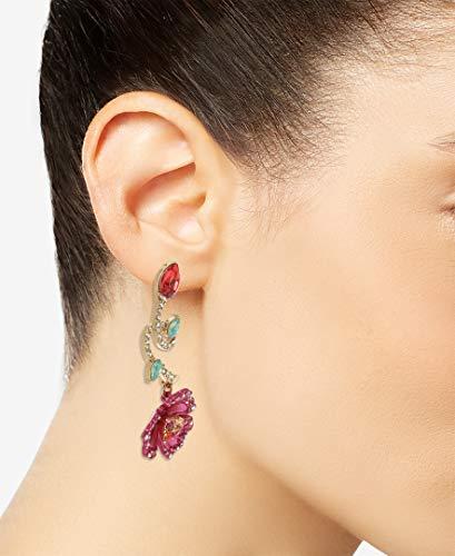 Betsey Johnson Floral Mismatch Earrings