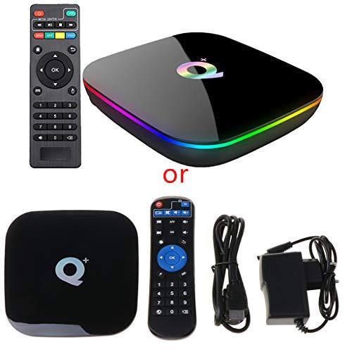 JIACUO Q Plus Smart TV Box y roid 9.0 TV Box 4GB RA M 32GB ROM Quad Core H.265 USB3.0 2.4G WiFi Set Top Box Media Player