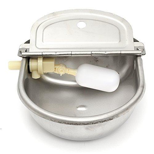 DyNamic 2.5L roestvrijstalen automatische waterbak vlotterklep boerderij paard koe schapen drinkbak