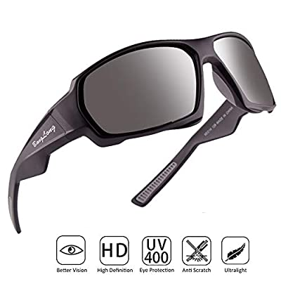 BangLong Polarized Sports Sunglasses, Sunglasses for Men Women Driving Sun Glasses Running Cycling Bike Fishing Golf Tr90