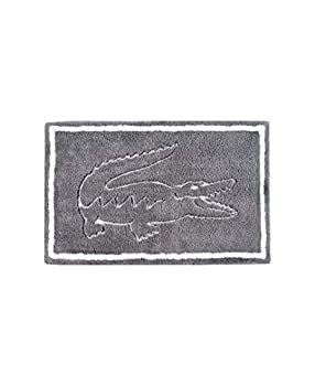 Lacoste Legend 100% Cotton Bathroom Rug 20  W x 32  L Meteorite