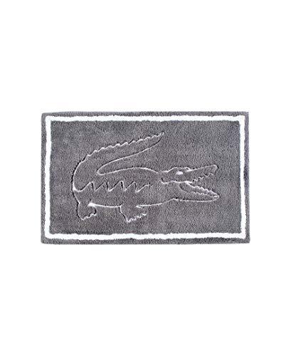 "Lacoste Legend 100% Cotton Bathroom Rug, 20"" W x 32"" L, Meteorite"