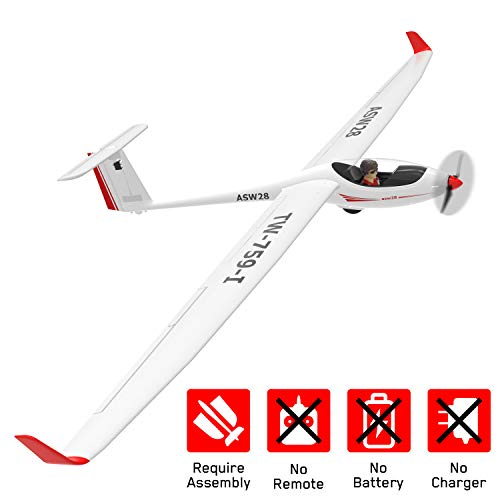 VOLANTEXRC RC Glider Airplane ASW28 Electric RC Sailplane 2.6m Wingspan & Plastic Unibody Fuselage Brushless PNP Version with Power Brushless Motor NO Remote NO Battery (759-1 PNP)