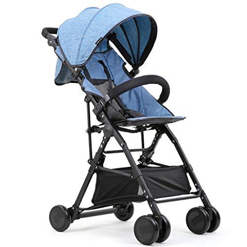Poussette Animaux Chariot Simple Pliable léger, Poussette inclinable, Parapluie for Enfants d'été en Aluminium, Poussette à Roues en Mousse EVA (Color : E)