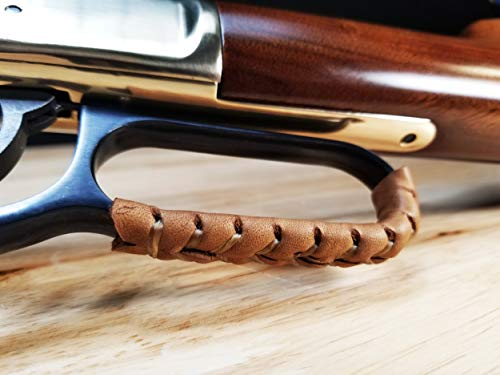 D4 Guns Handcrafted Leather Lever Wrap for Lever Action Rifles and Shotguns (Light Brown/Dark Brown)