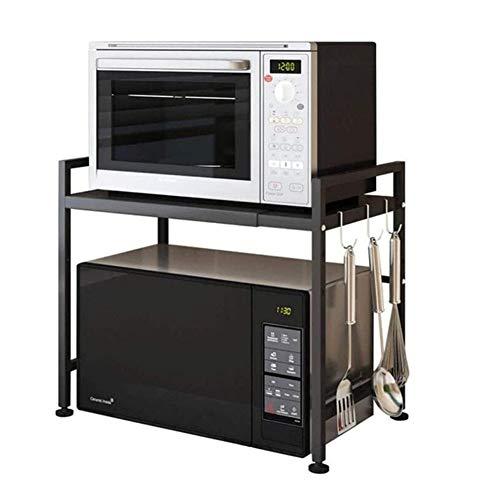 Support D'étagère Extensible Pour Four à Micro-ondes Avec étagère De Rangement à 2 Niveaux - Etagère Pour Four à Micro-ondes, Nouvel Gain De Place Pour Le Rangement De La Cuisine, Grille De(Color:C)