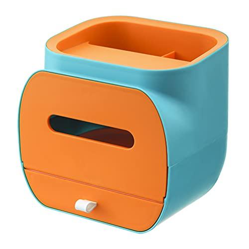 Bolígrafo Lápiz Soporte de Control Remoto y Cubierta de Caja de pañuelos, Organizador de Almacenamiento de Caja de pañuelos de servilleta nórdica para baño, Dormitorio y Oficina