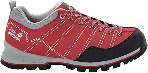 Jack Wolfskin Damen Scrambler Low W 4036671 Trekking- & Wanderhalbschuhe, Rot Red Light Grey 2106, 40 EU