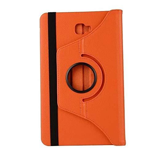 XIAOYAN Funda giratoria para tablet Samsung Galaxy Tab a 10.1 t580 Funda para SM-T580 T585 T587 Tablet Cases-Naranja