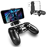 PS4 Controller Phone Mount, ADZ PS4 Phone Mount Smart Clip for PS4 Dualshock 4 Controller Compatible with iPhone, Android and PS4 Remote Play