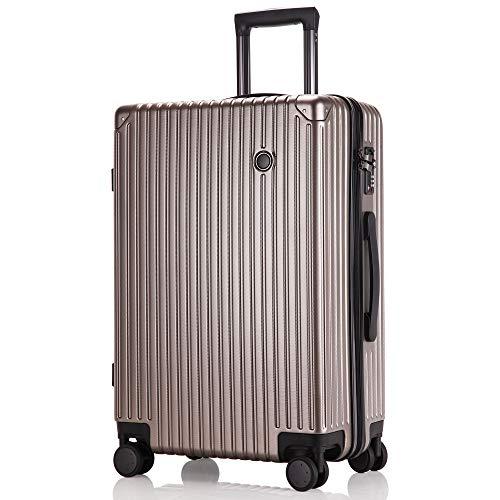 レーズ(Reezu) スーツケース 超軽量 機内持込み キャリーバッグ 8輪 静音 キャリーケース TSAロック付 キャリーバック Sサイズ/Mサイズ/Lサイズ ファスナー式 大型 人気色 ビジネス 旅行 安心の1年保証 ゴールド gold Sサイズ 約3