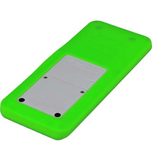 Guerrilla Silicone Case for Texas Instruments TI-84 Plus CE Color Edition Graphing Calculator With Screen protector and Graphing Ruler, Green Photo #2