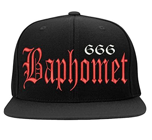 Boné Bordado Baphomet Lucifer Satan 666
