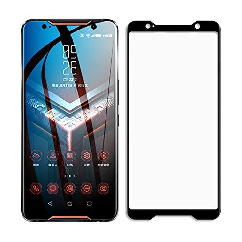 for Asus ROG Phone II Displayschutzfolie aus gehärtetem Glas für Asus Rog Phone 2, vollständige Abdeckung, 2 Stück