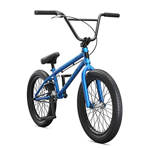 Steel Frame Kids Freestyle BMX Bike from US, White 20in Outdoor Sports Bicycle with Water Bottle Bag Training Wheels Boys Beginner Riders,Level to Advanced Riders