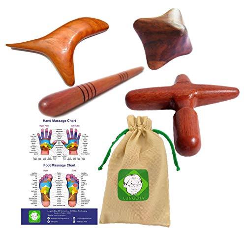 Lungcha Traditional Thai Massage Wooden Stick Tool, Reflexology,...