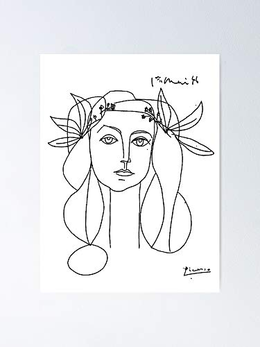 guyfam Picasso Head of A Woman Poster - Best Gift for Your Parent and Peoples, Decorate Room. No Frame Board, 11.7