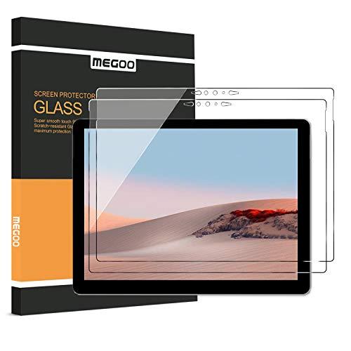 [2er Pack] MEGOO Bildschirmschutzfolie für Surface Go 3/2 10,5 Zoll (Version 2020), gehärtetes Premiumglas, Kratzfestigkeit, keine Blasen, HD Clear, Bildschirmschutzfolie mit 9H-Festigkeit