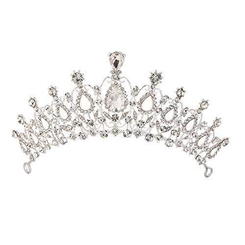 Sunshinesmile Bride Crystal Tiara Crowns Hair Jewelry Rhinestone Wedding Pageant Bridal Princess Headband