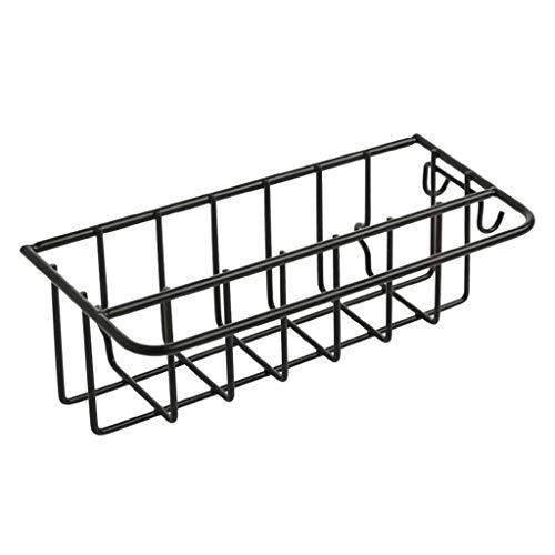 Abcidubxc Estantería de pared para cocina, autoadhesiva, de hierro forjado, para lavabo, para fregadero, para la cocina, con esponja