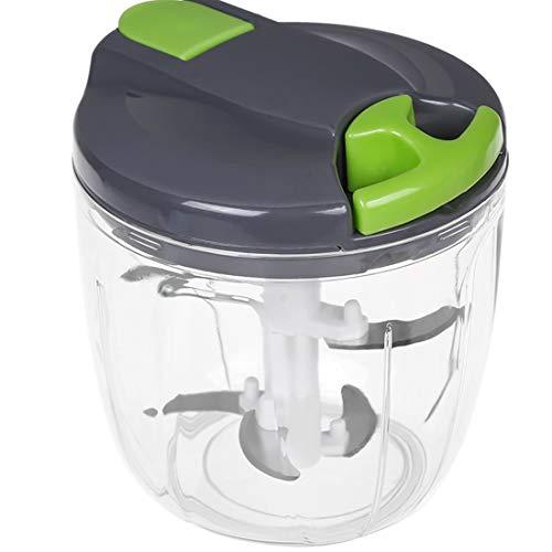 Yolistar Tritatutto Manuale con 5 Lame in Acciaio Inossidabile, Easy Pull Aggiornato Robot da Cucina Portatile Miscelatore per Verdure a Fette, Cipolle, Aglio, Carne, Noccioline