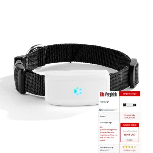 Simmotrade® SMT_911_OS, GPS Tracker für Hunde ohne ABO, sie benötigen eine SIM Karte. Bild.de Vergleichssieger Juni20/21