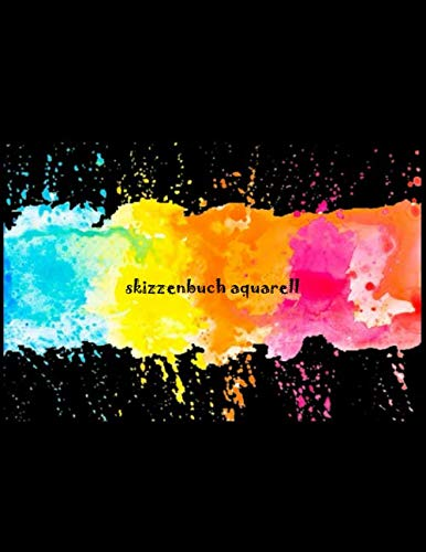 skizzenbuch aquarell: skizzenbuch din a4 querformat blanko