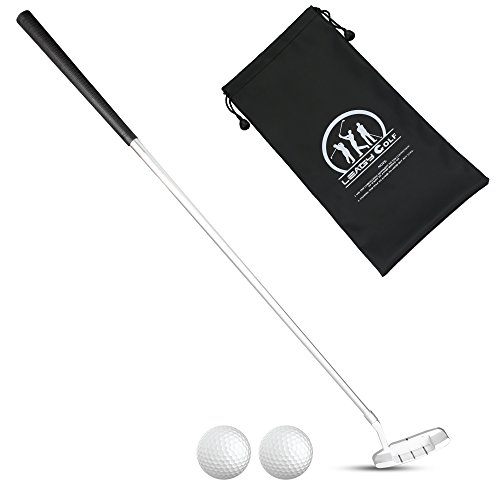 LEAGY 4-Sections Portable Best Golf Right Hand Putter, 2 Golf Balls Isolated On White Background, 1Pack Golf Bag(Right)