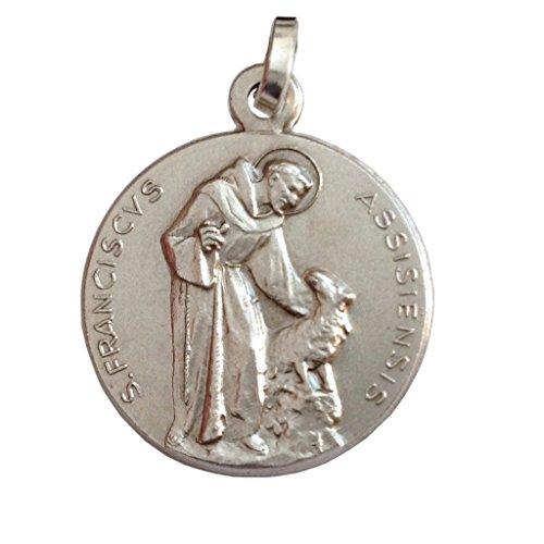 Igj Medaille des Heiligen Franz von Assisi in 925 Sterling Silber - Patron von Europa
