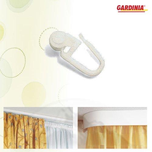 Gardinia Rollringe für Vorhangeschiene Farbe: Weiß