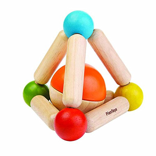 PLAN TOYS- Triangle Clutching Toy, 5244, Wood