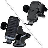 2021 Version ZeeHoo 15W Wireless Car Charger Built-in Cooling Fan with Upgraded Version ZeeHoo 15W Air Vent Wireless Car Charger,Qi Fast Charging Auto-Clamping Car Mount, Air Vent Phone Holder