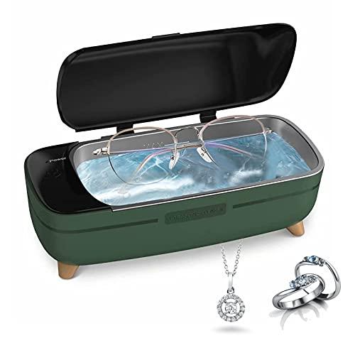 Pulitore a ultrasuoni a ultrasuoni in acciaio inox, 400 ml, funzione timing, protezione dalle alte temperature per gioielli, collane, bicchieri, spazzolino da denti, orologio impermeabile