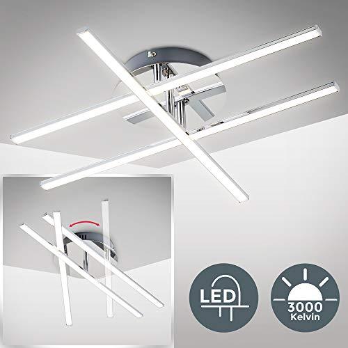 Lámpara de techo I Placa LED 3 x 12,5 W I Lampara de salón moderna I Luz Blanco Natural 3.000K 1150LM I Iluminación interior para Dormitorio Cocina Sala de Estar Comedor Pasillo